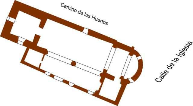 Planta de la Iglesia de San Juan Evangelista