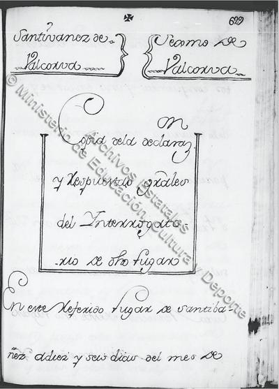 Portada de las respuestas Generales de Santibáñez de Valcorba AGS